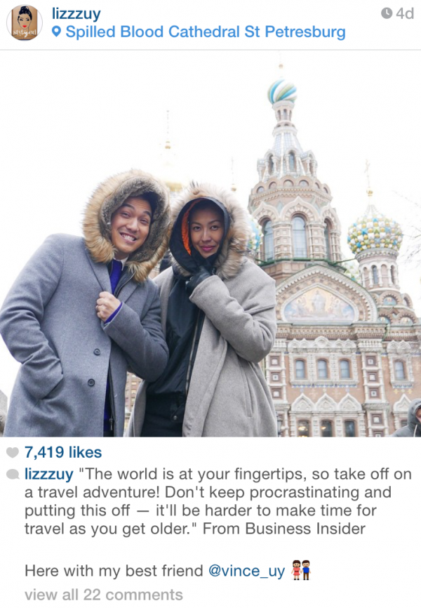 Lizz Uy in Moscow Russia