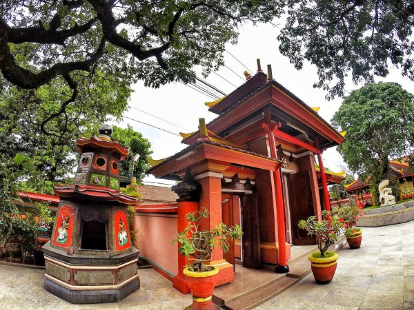 Main Gate of the Old Buddhist Temple in Bali