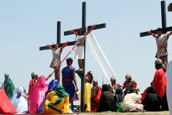 Reenactment of the Crucifixion of Jesus Christ on Good Friday
