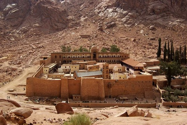 Saint Catherine's Monastery by Berthold Werner - Own work. Licensed under CC BY-SA 3.0 via Wikimedia Commons