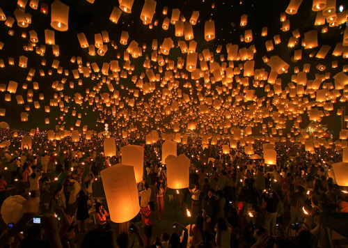 Sky Lanterns in Koh Samui