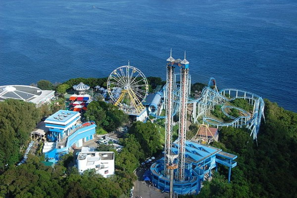 Some of the rides of the Marine World