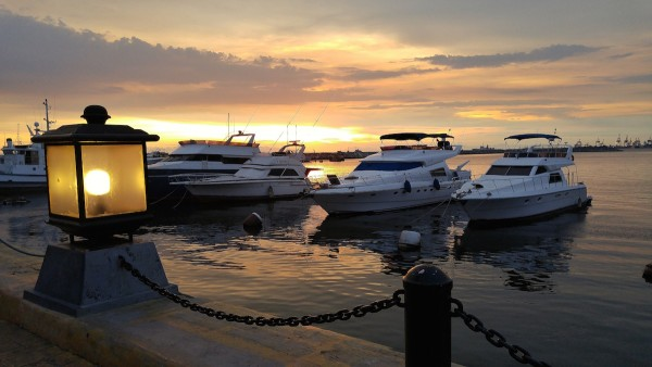 Sunset in Manila Yacht Club