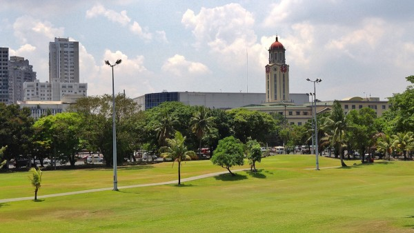 View of Manila City Hall from Intramuros Walls