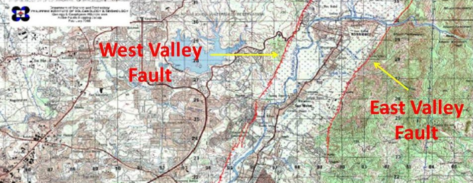 Marikina Valley Fault System Map Are you living in an earthquake