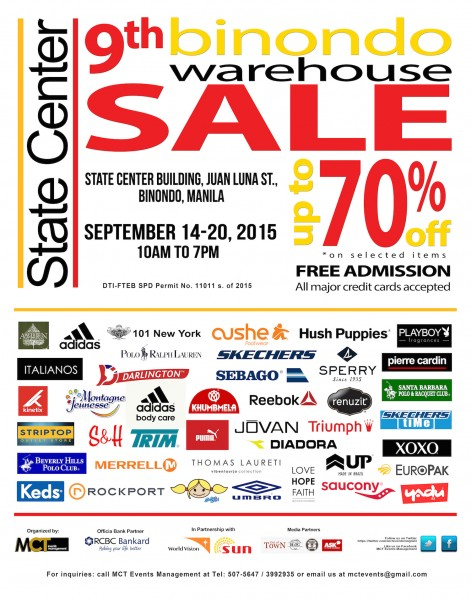 9th Binondo Warehouse Sale 2015