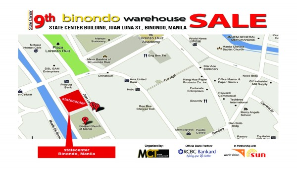 9th Binondo Warehouse Sale Map