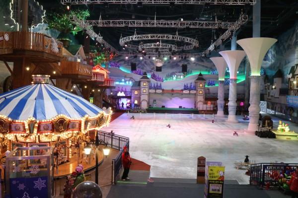 Inside Onemount Snow park
