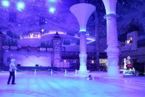 Snow inside Onemount Snow Park