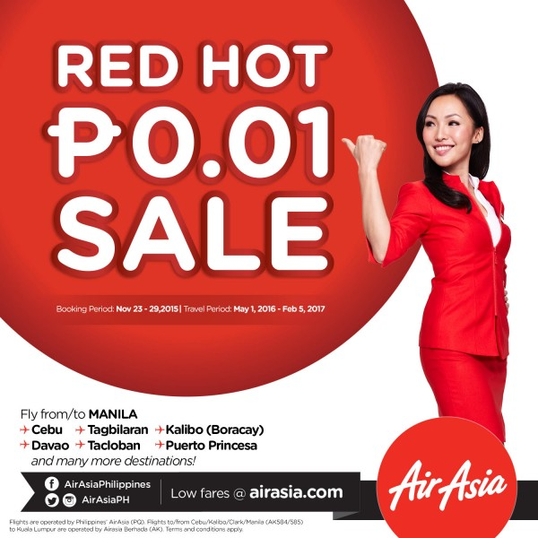 AirAsia Red Hot One Centavo Seat Sale