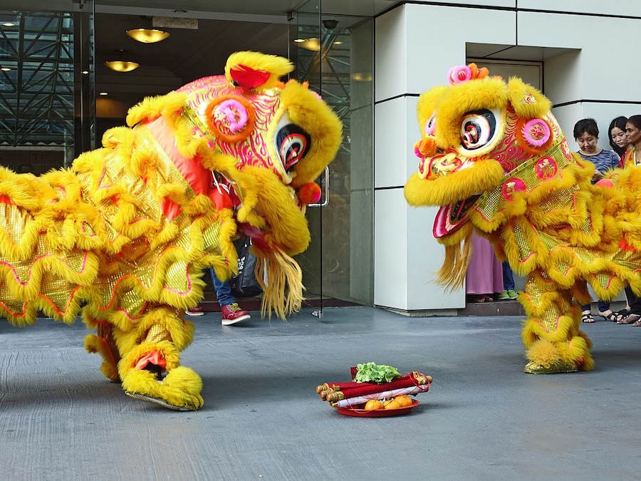 chinese new year lion dance - Chinese New Year Dragon Dance