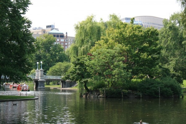 The Boston Public Garden and Swan Boats - Romantic Weekend in Boston
