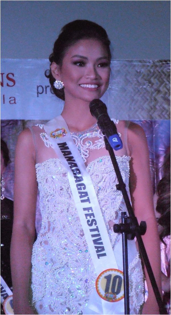 She is not Janine Tugunon, Her name is Lou Dominique Piczon of the Manaragat Festival