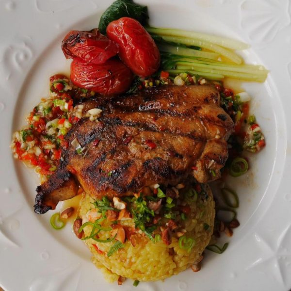 Thick cut grilled pork chop (courtesy of Hill Station facebook page)
