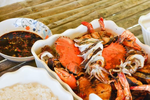 Grilled Seafood and Steamed Crabs