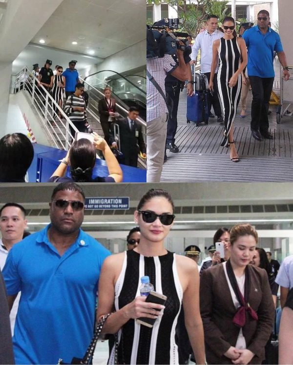 Pia Wurtzbach is back in the Philippines to meet President Duterte