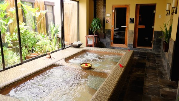 The jacuzzi, steam and sauna