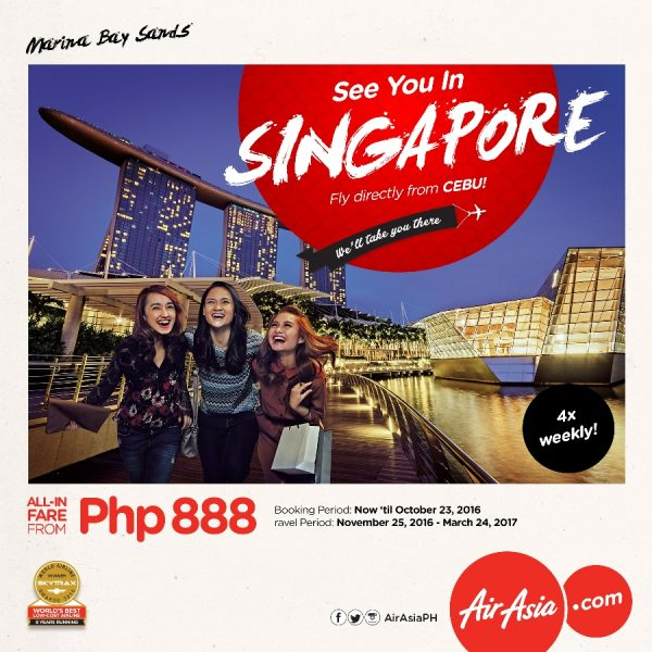 Singapore Direct Flights from Cebu