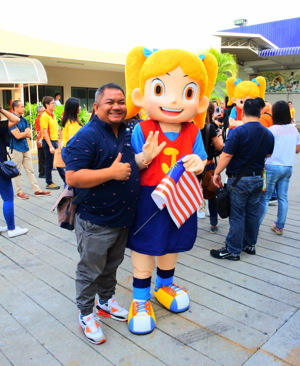 with Julies Mascot