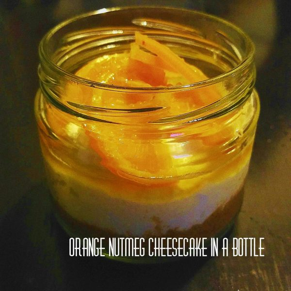 Orange Nutmeg Cheesecake in a bottle