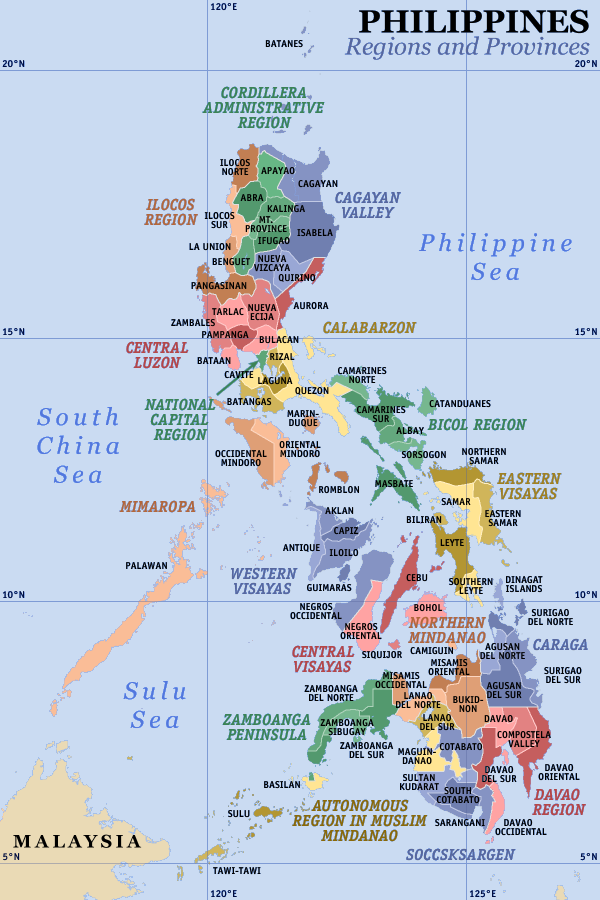 Map of the Philippines  Out of Town Blog