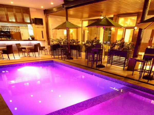Cocoon Boutique Hotel Pool at Night