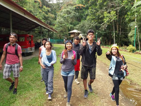 Our only decent picture after the trek.
