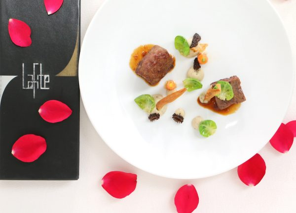 The Veal 2 Ways features roasted fillet of veal, 48 hours slow cooked veal cheek and truffle celeriac puree
