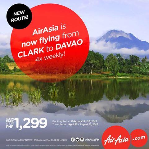 AirAsia Clark-Davao Flights