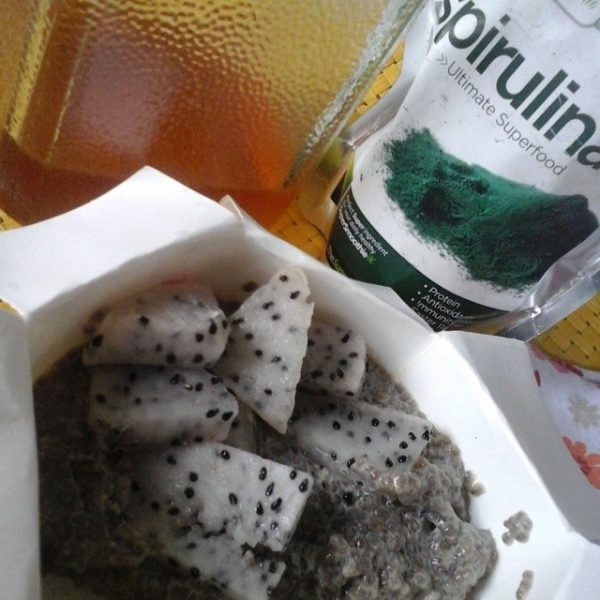 Chia Seeds with Dragon Fruit