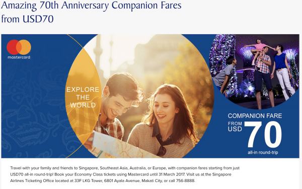 Pay less while travelling more with Singapore Airlines and SilkAir's Companion promo