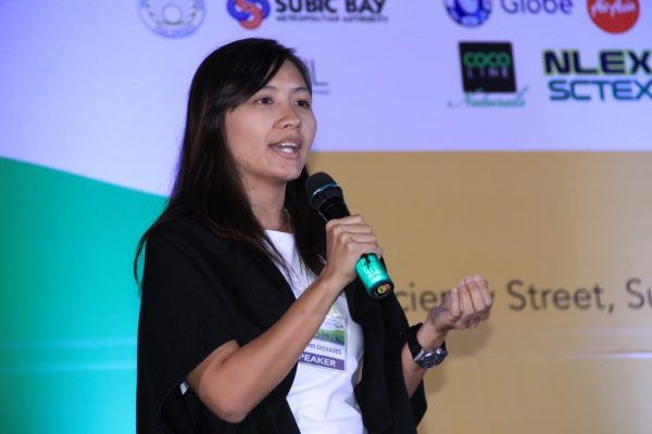 """Jamie Anne Dichaves, Sustainability Officer and Pollution Control Officer of Lio Tourism Estate, encourages the delegates to help address the needs of communities by way of ecotourism. Her presentation tackled """"Striking a Balance: Ecotourism for Environmental Conservation and Rural Development."""""""