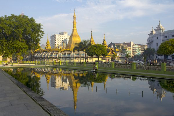 Sule Pagoda is considered to be the centre of Yangon and the point from which distances to other places are measured.