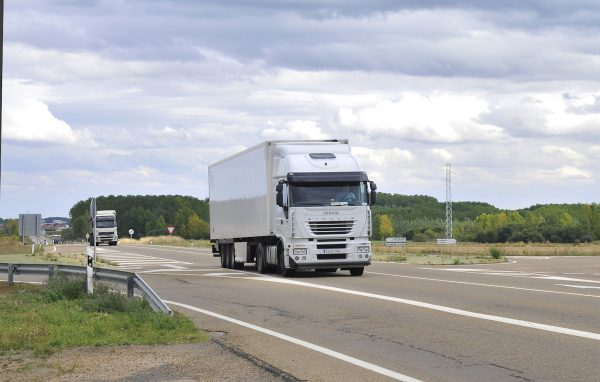 A lumbering truck like this is not a cyclist's best friend on the road.