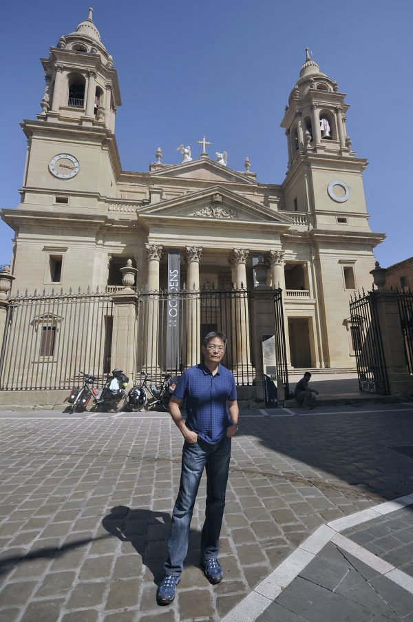 At the Pamplona cathedral where I bought my Compostela Credencial which you can have stamped at the churches you pass by or albergues where you stay.