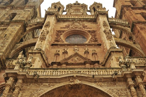 Facade of the Astorga Cathedral.
