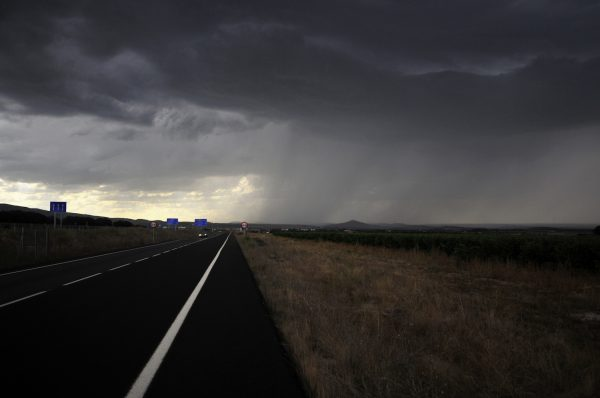 Nearing Santo Domingo de la Calzada, a rainstorm was brewing - good the squall passed quickly before I got to that place.