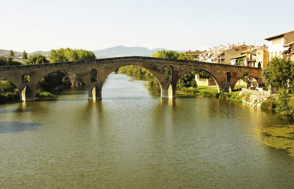 It was so windy that I couldn't get a nice reflection of this iconic Romanesque bridge on the rippled waters of the Arga River in Puente La Reina.