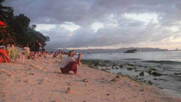 Diniwid Beach at dusk