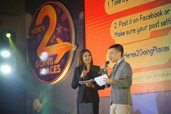Hosts Kara David and Chico Garcia welcome everyone to the GetGo 2nd year anniversary event and partner's night celebration.