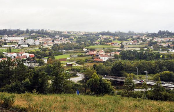 Overlooking the suburbs of Santiago from the vantage point of one of the hills surrounding the city.