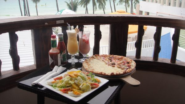Red Coconut's panoramic balcony with a serving of its flavourful dishes
