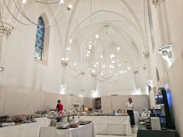 This cathedral looking restaurant is, in fact, an old cathedral