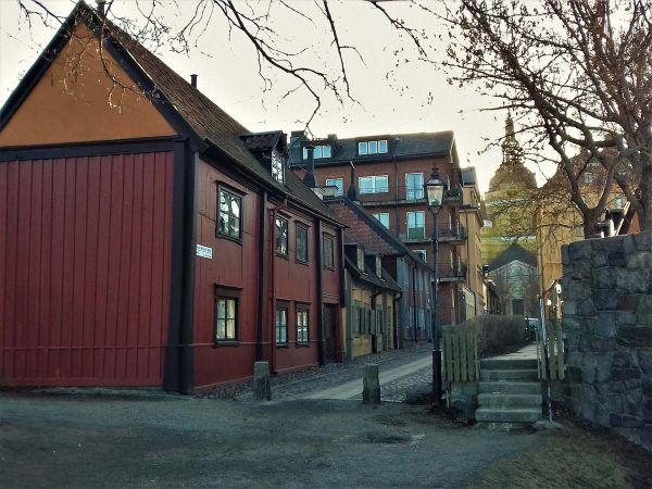 Wooden houses in stockholm