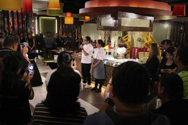 Chefs Roland and Jackie Laudico giving an inspiring sneak peek on what Filipino Food Festival is all about.