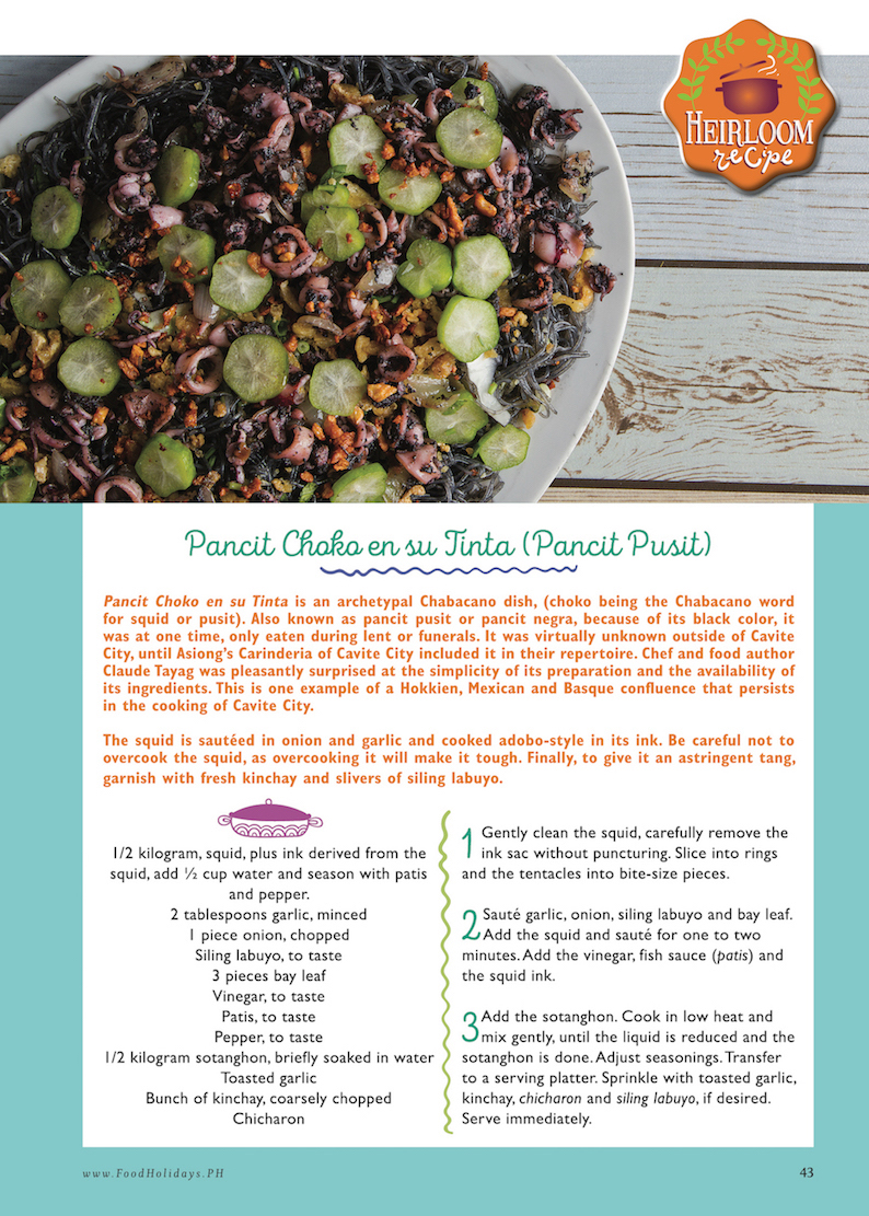 Food holidays philippines pansit choco en su tinta heirloom recipe food holidays philippines pansit choco en su tinta heirloom recipe forumfinder Gallery