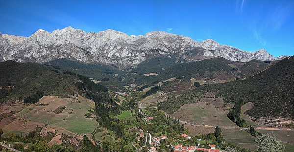 Just behind that limestone range of the Picos lies the Atlantic ocean.