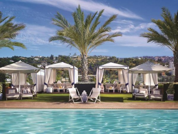 The London West Hollywood Hotel Poolside on the Rooftop
