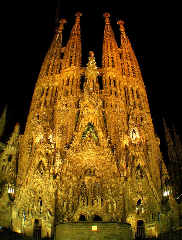 More than a hundred years in the making, the Sagrada has a very intricate design as shown on the entrance facade.
