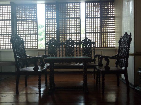 Antique sala set in Agoncillo Ancestral House